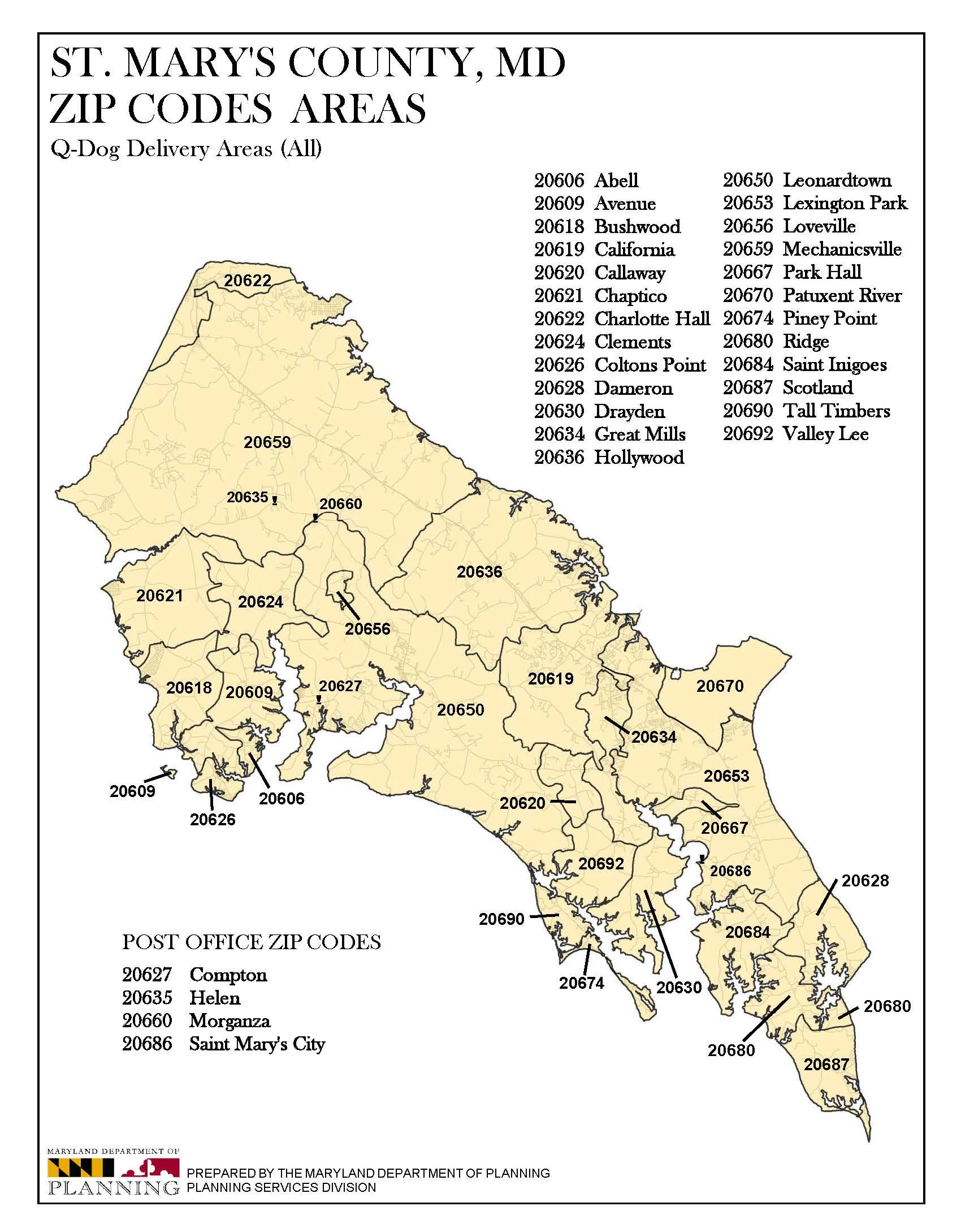 Service Area Maryland