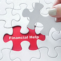 Financial help puzzle piece